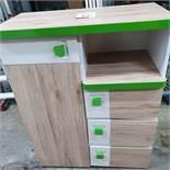 Brown & Green Detailed Children's Storage Unit