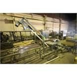 Flexicon S/S Incline Hopper, with (2) S/S Augers with Flexicon Valve & S/S Dust Hopper, Mounted on