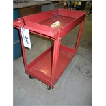 Red metal shop cart