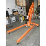 2 ton capacity hydraulic foldable shop crane