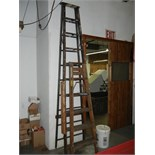 Two wood ladders