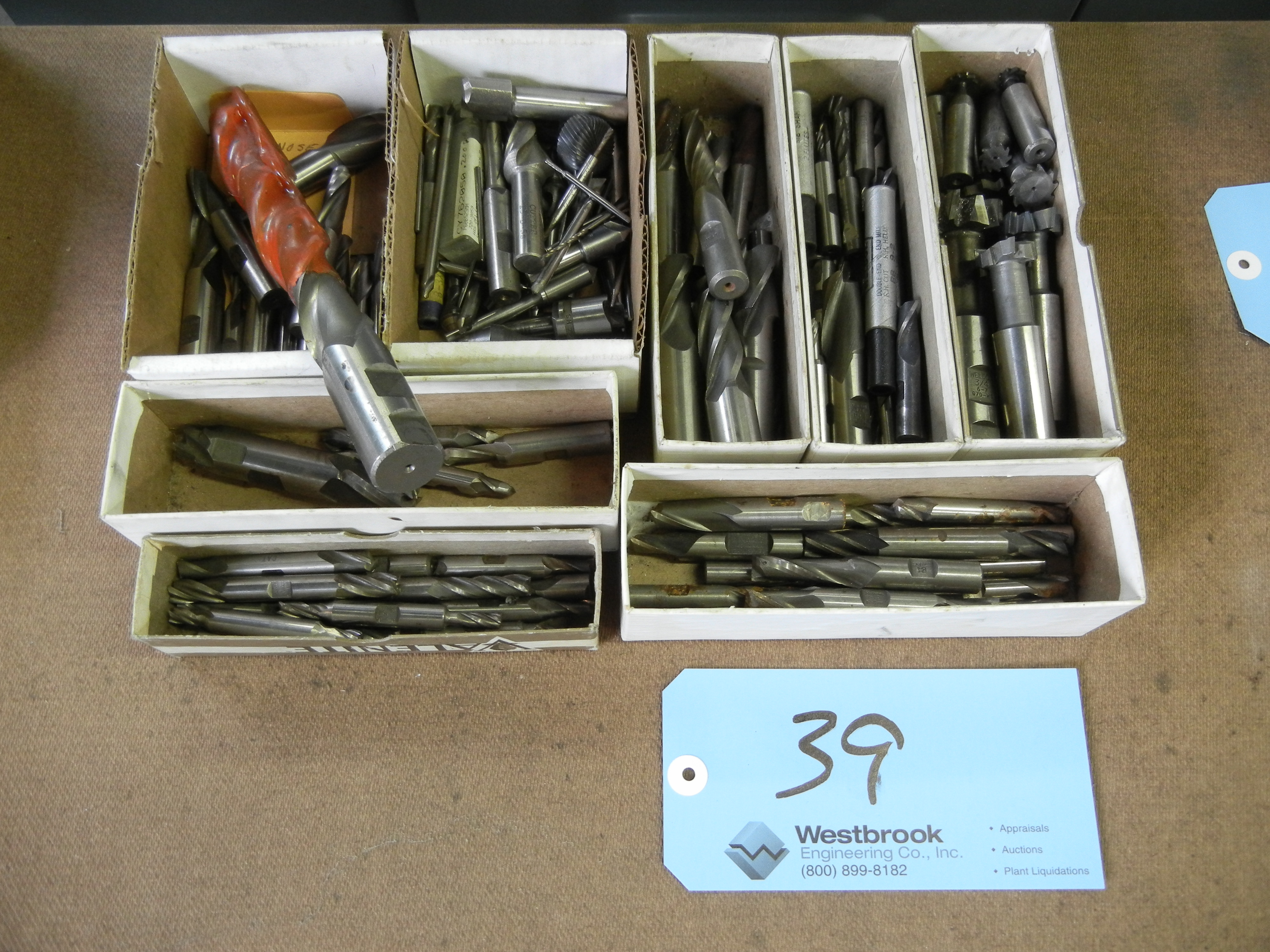Eight boxes of end mills