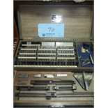 Starrett gauge block set Model RS92A1X (with gauge block holder and base)