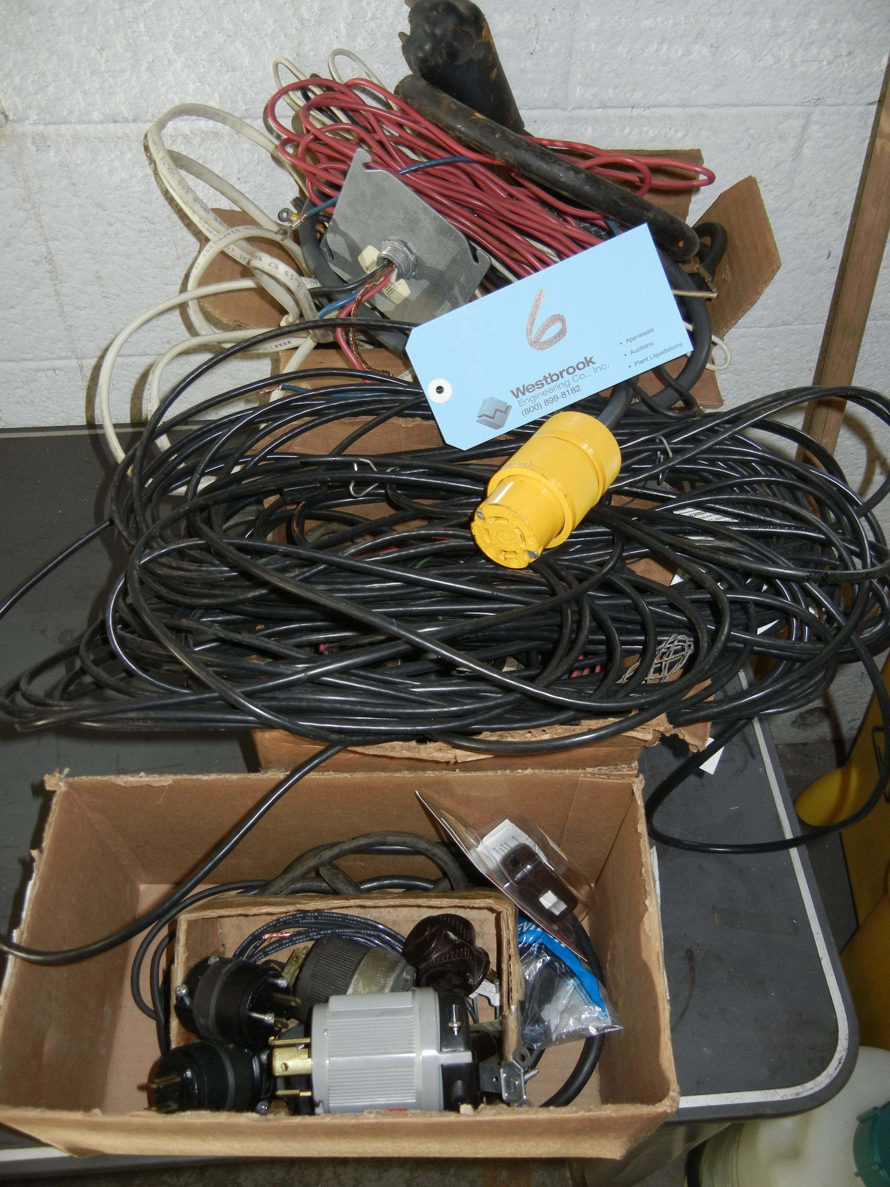 Assortment of electrical wiring and plugs