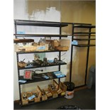 Two metal shelving wall units (attached to wall) (contents not included) (Remove last day)