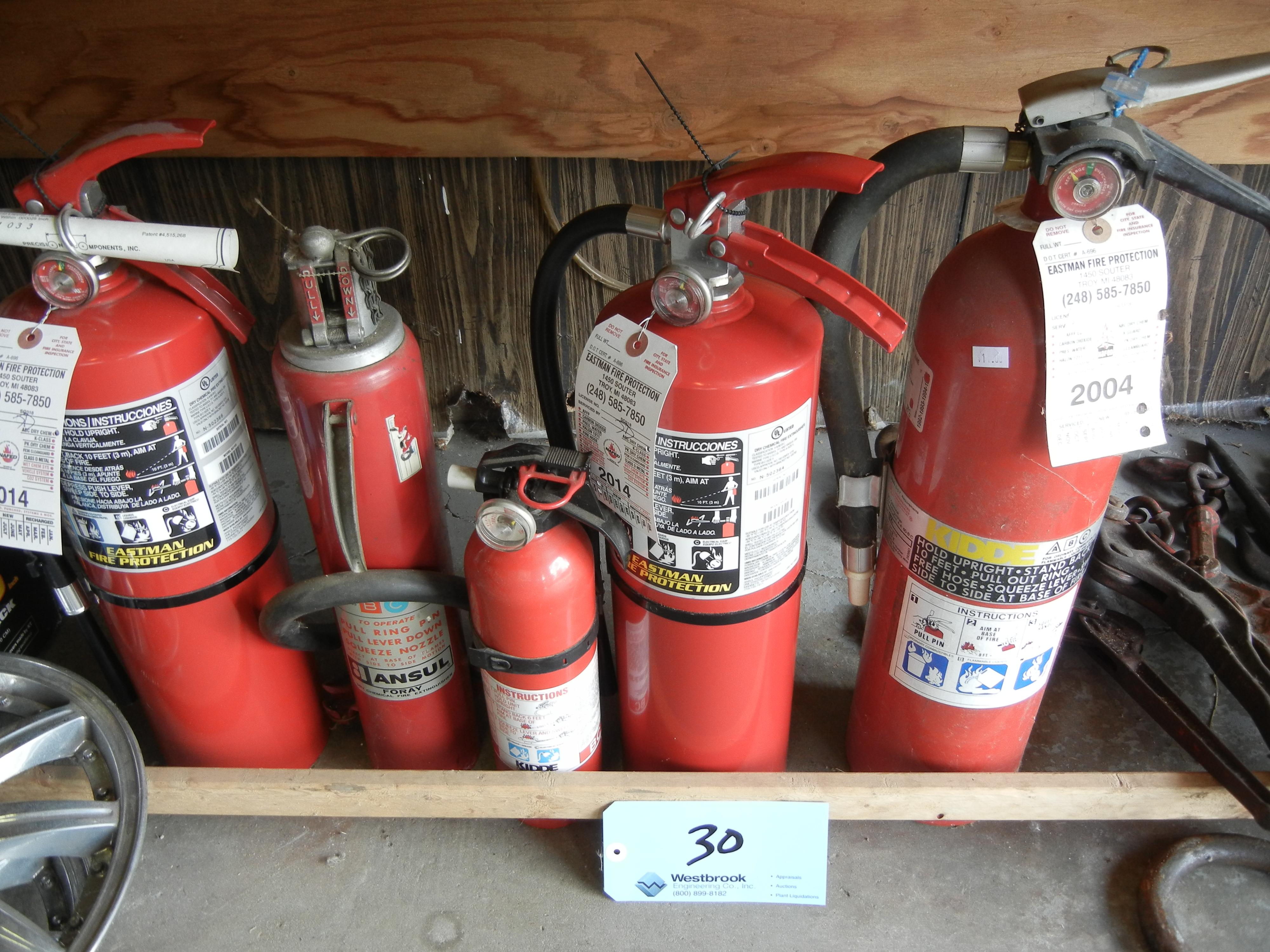 Five fire exhaushiers