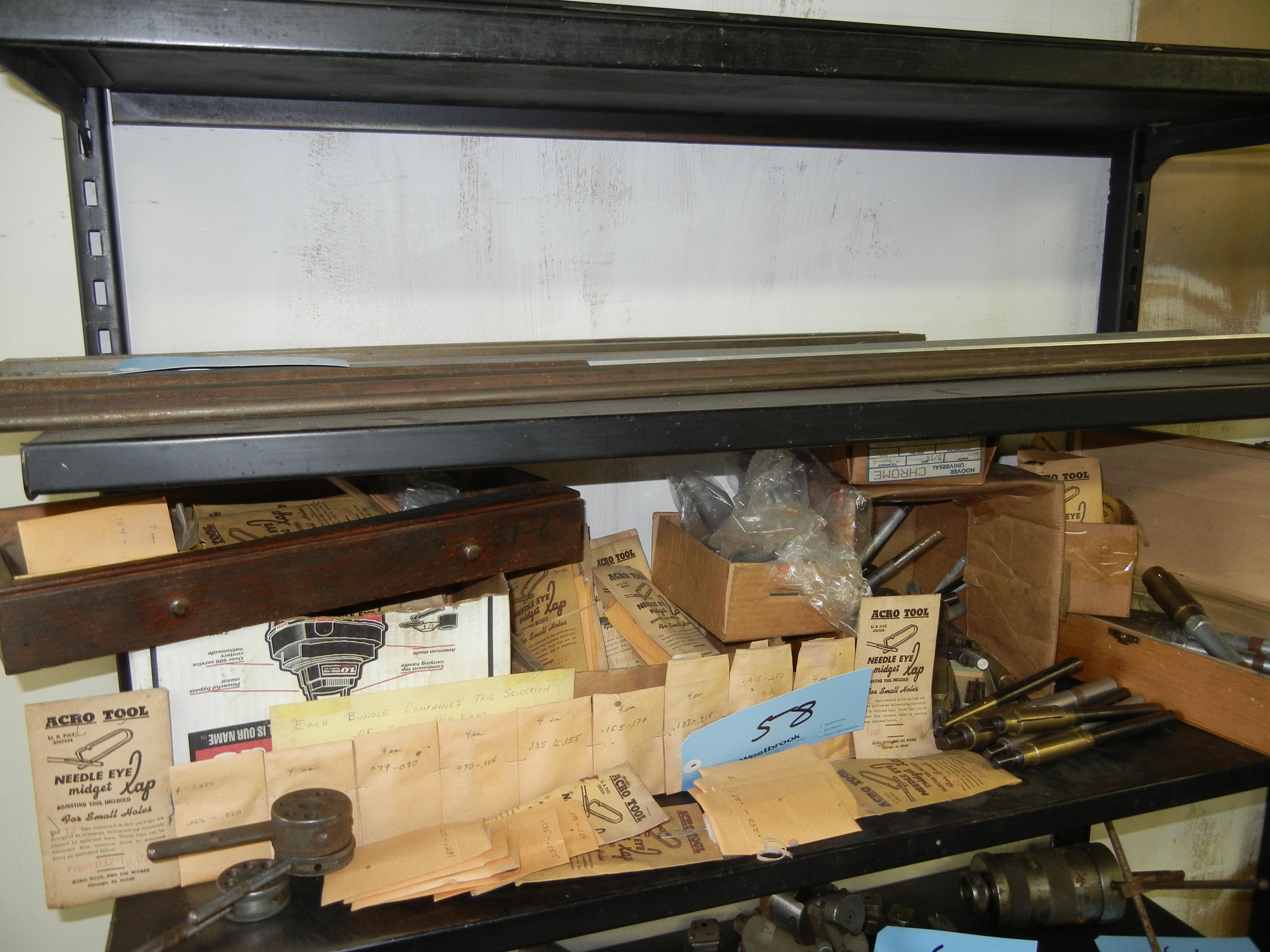 assortment of lap tooling on shelf (shelf not included)