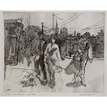 ANTHONY GROSS (1905-1984) 'Pedestrian with Dog', etching, pencil signed in the margin, titled and