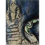 MARK CHAGALL (1887-1985) Ahasuerus Sends Vasthi Away, lithograph in colours, addition Verve Paris,