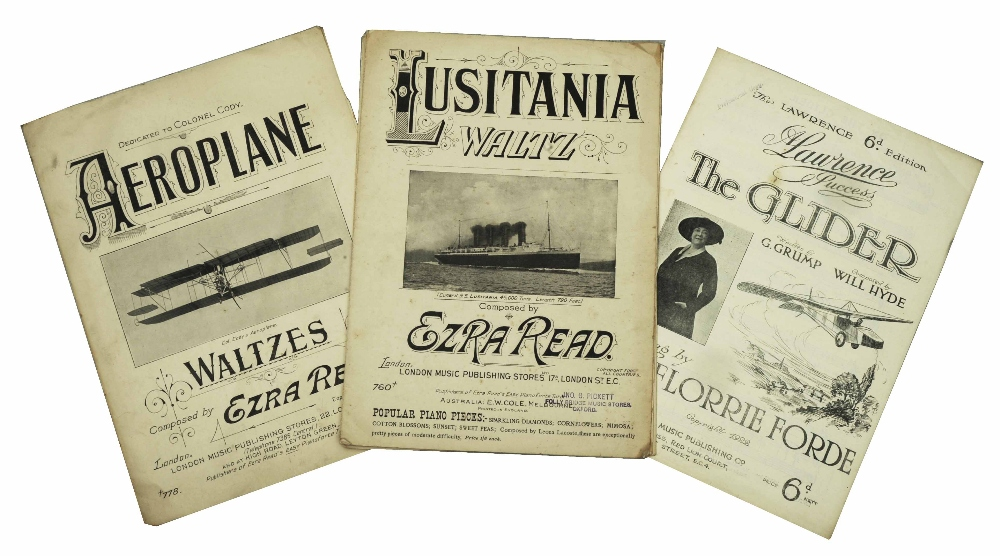 Lot 149 - A QUANTITY OF SHEET MUSIC COVERS for piano, early 20th century and later curiosities and general