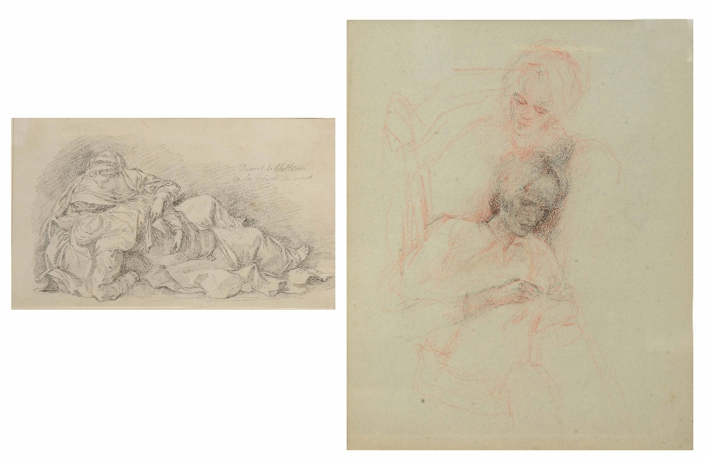 Lot 251 - JEAN-ROBERT ANGO (d.1773) The faint Madonna supported by one of the three maries after Daniele da
