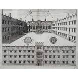 AFTER WILLIAM WILLIAMS 'Collegium Orielense (Oriel College)', a perspective view with gabled facade,