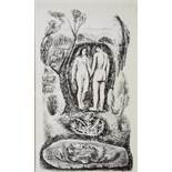 FOLLOWER OF MARC CHAGALL (1887-1985) Adam and Eve, lithograph, 23 x 13.5cm