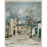 AFTER MAURICE UTRILLO 'Le Chateau de St Bernard, Montmartre', lithograph, stamped with signature
