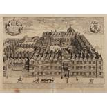 DAVID LOGGAN 'Collegium Orielense' (Oriel College), double page engraving 30 x 41cm