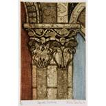 VALERIE THORNTON (1931-1991) 'Capitals Serrabone', etching with aquatint in colours, pencil signed