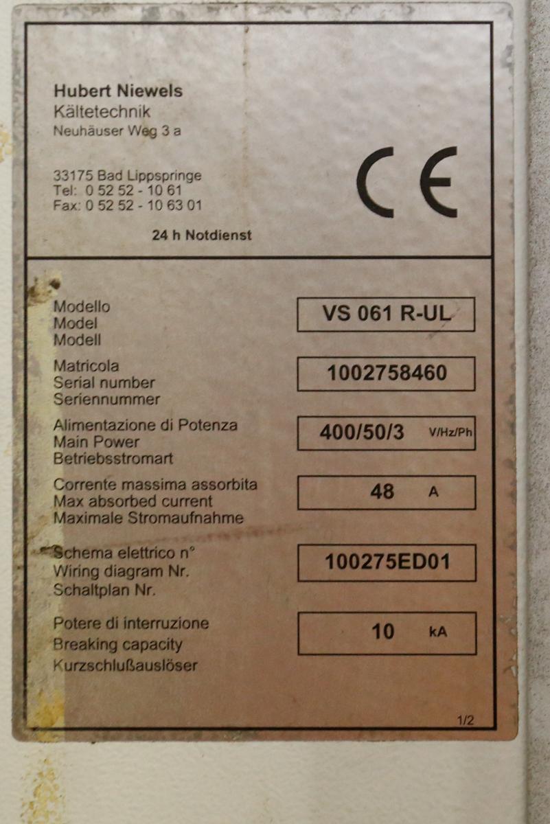 HUBERT NIEWELS VS061R-UL CHILLER (ITEM # 7.35.0) - Image 2 of 3