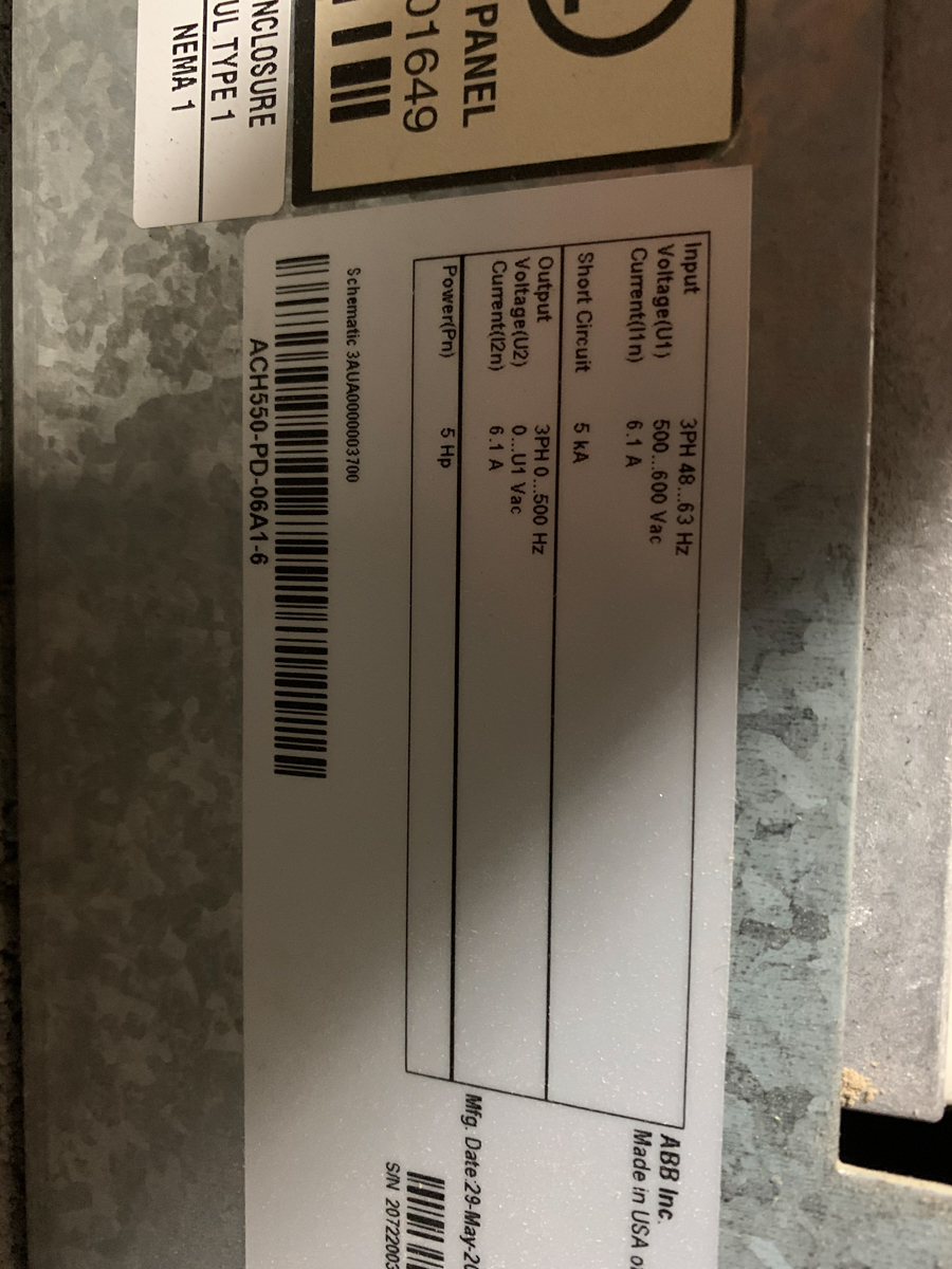 LOT OF ABB CONTOL PANEL W/ 3 DRIVES - Image 7 of 7
