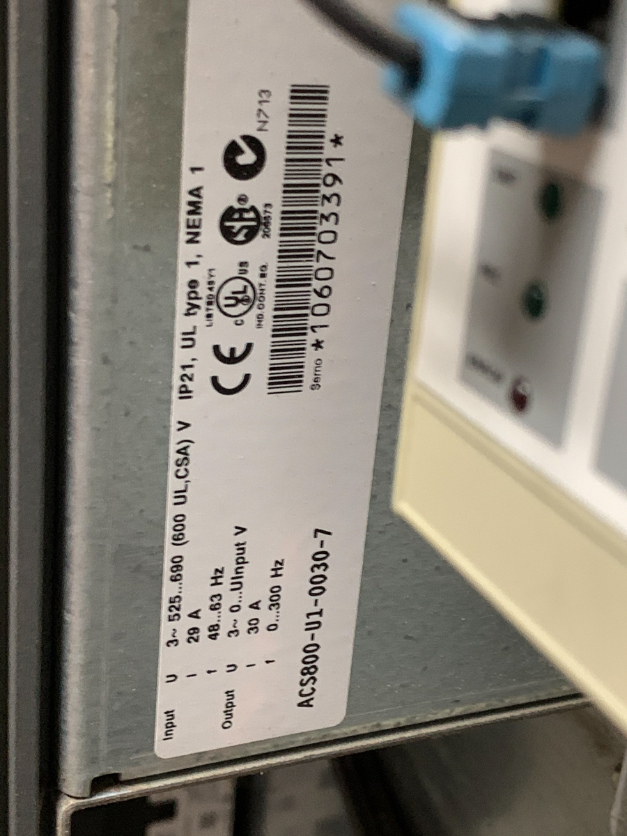 LOT OF ABB CONTOL PANEL W/ 3 DRIVES - Image 3 of 7