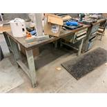 LOT OF 4 FACTORY TABLES