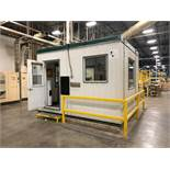 "MODULABEC FACTORY OFFICE, 13' X 132"" X 115"" HIGH, W/ AIR CONDIDIONING & OFFICE FURNISHING"