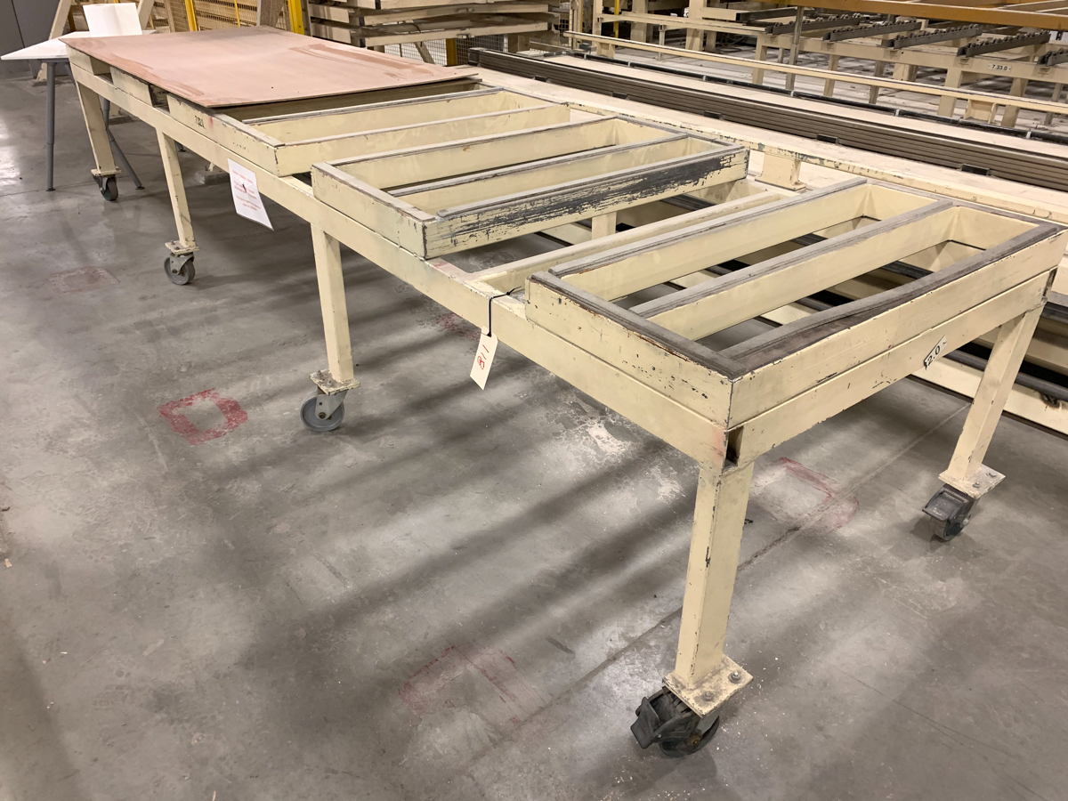 """LOT OF (2) 201"""" X 50-1/2"""" MOBILE RACK"""
