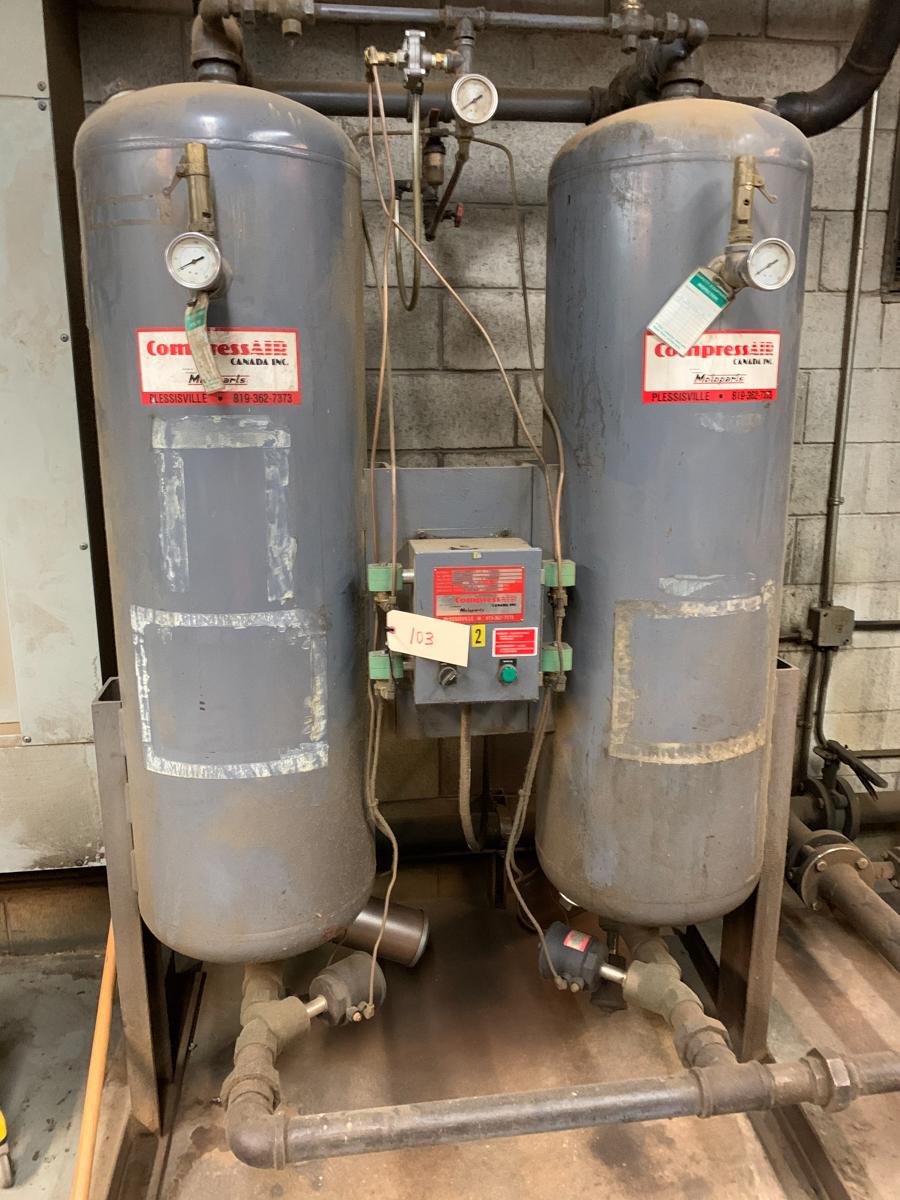 LOT OF 2 COMPRESS AIR MOD. D0650 AIR FILTERS, 650. CFM, 100 PSI, MAX PRESSURE 200 PSI - Image 2 of 3
