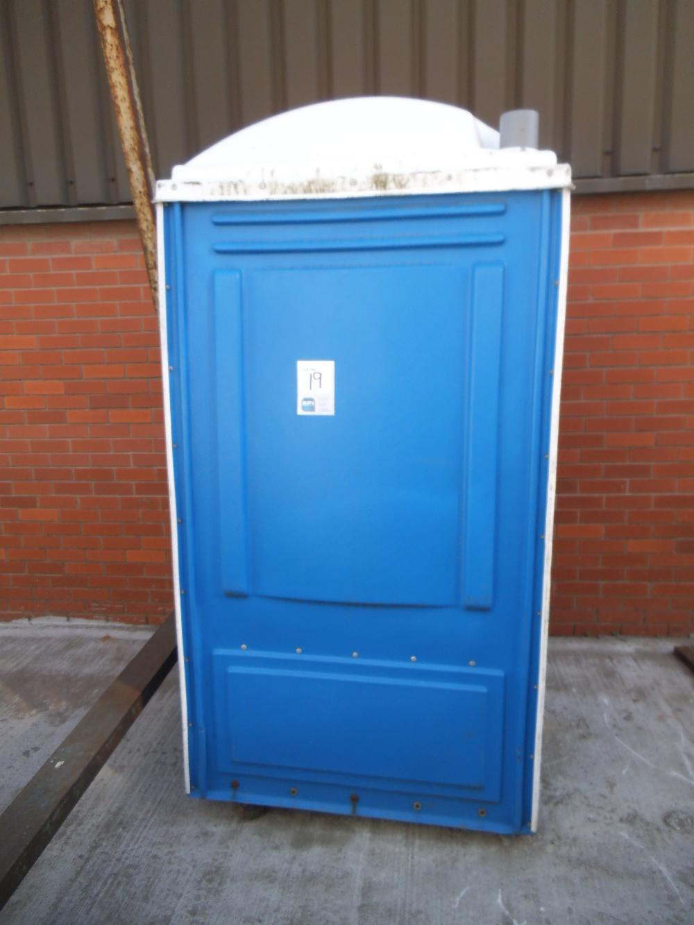 Plastic Portable Sink : Portable Plastic Toilet Unit c/w Hand Wash Sink Appraisal: Serial No ...