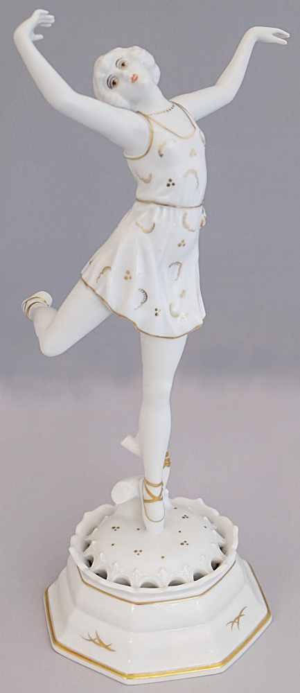 """Figur Porzellan ROSENTHAL """"Spitzentänzerin"""" wohl 1920er JahreEntwurf Dorothea SCHAROL (wohl 1895-"""