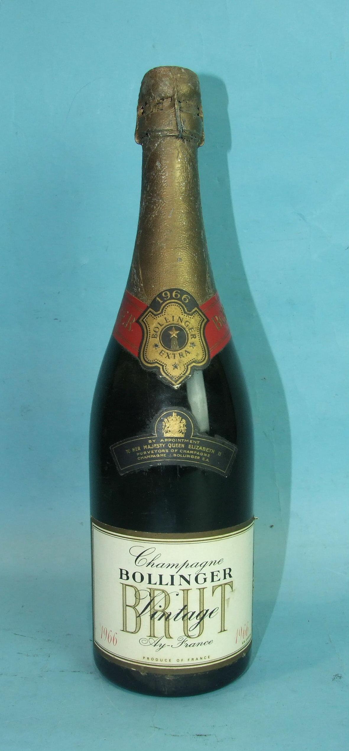 Lot 10 - Bollinger Vintage Brut Champagne 1966, one bottle, (foil damaged).