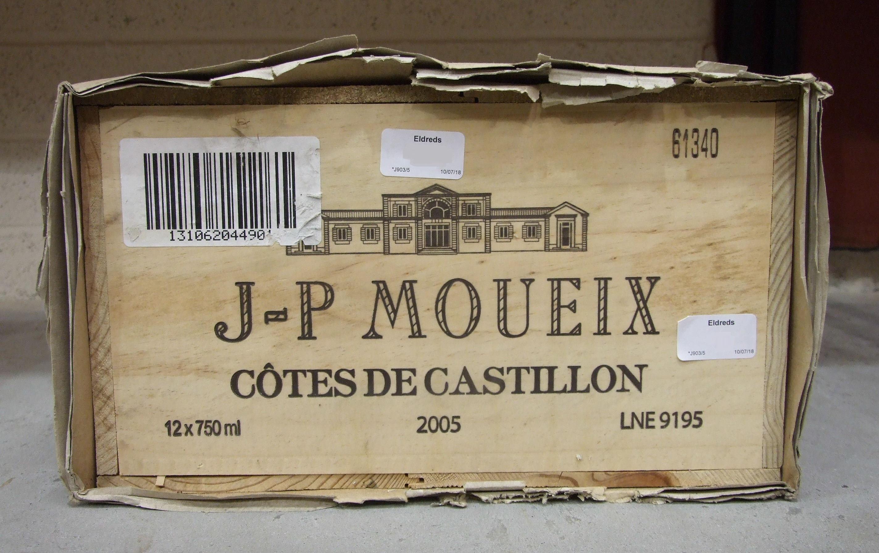 Lot 33 - Moueix Cotes de Castillon 2005, 12 bottles.