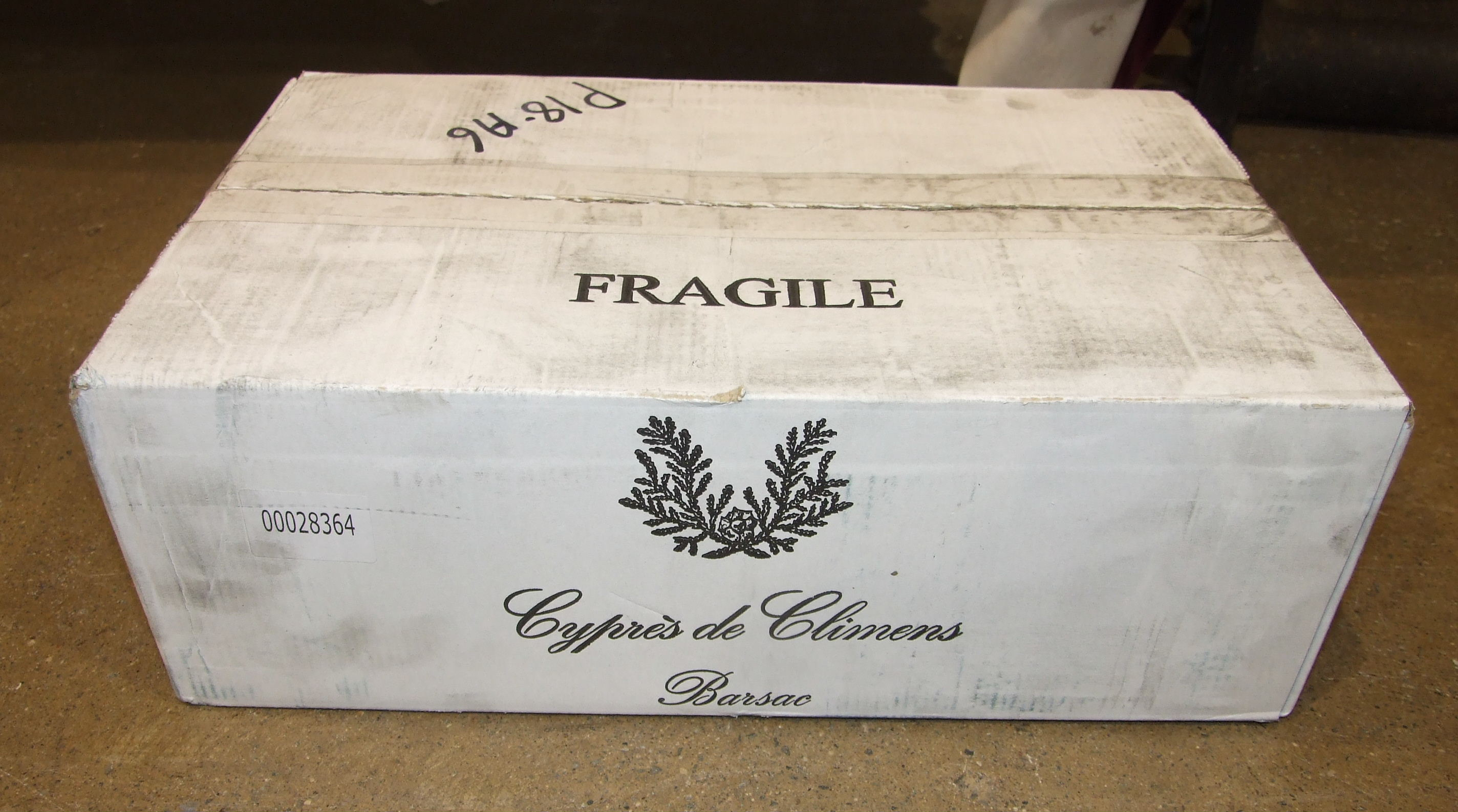 Lot 30 - Cyprès de Climens Barsac, 375ml, twelve bottles in cardboard carton, (12).