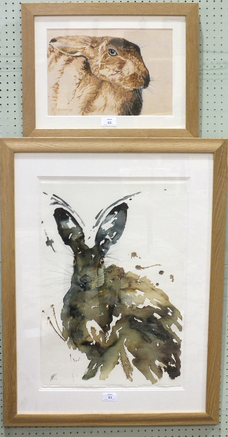 Lot 93 - Rosie Henstridge THE GENERAL Signed acrylic and ink, inscribed on label verso, 23 x 32cm and a