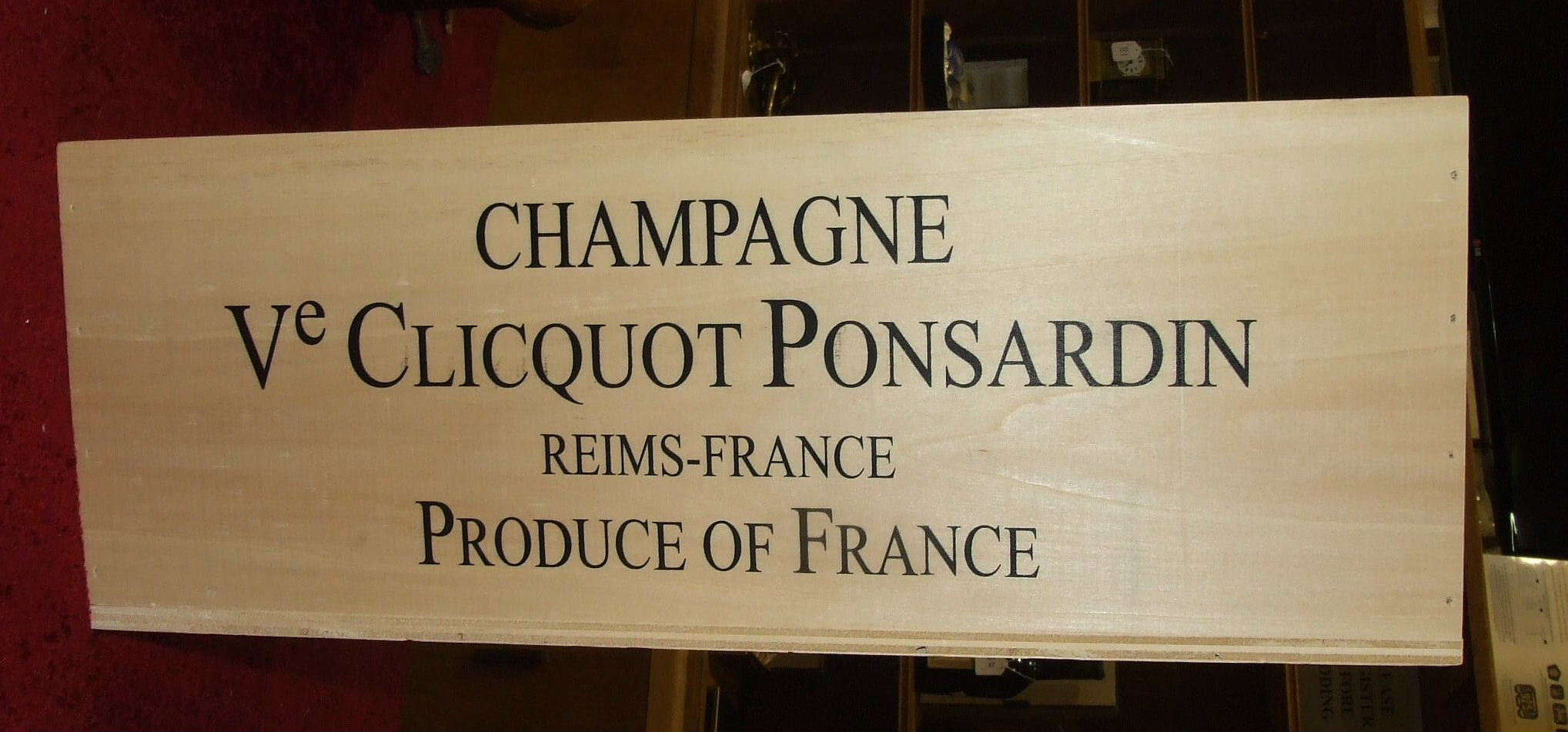 Lot 24A - Veuve Clicquot, double-magnum, in wooden box.