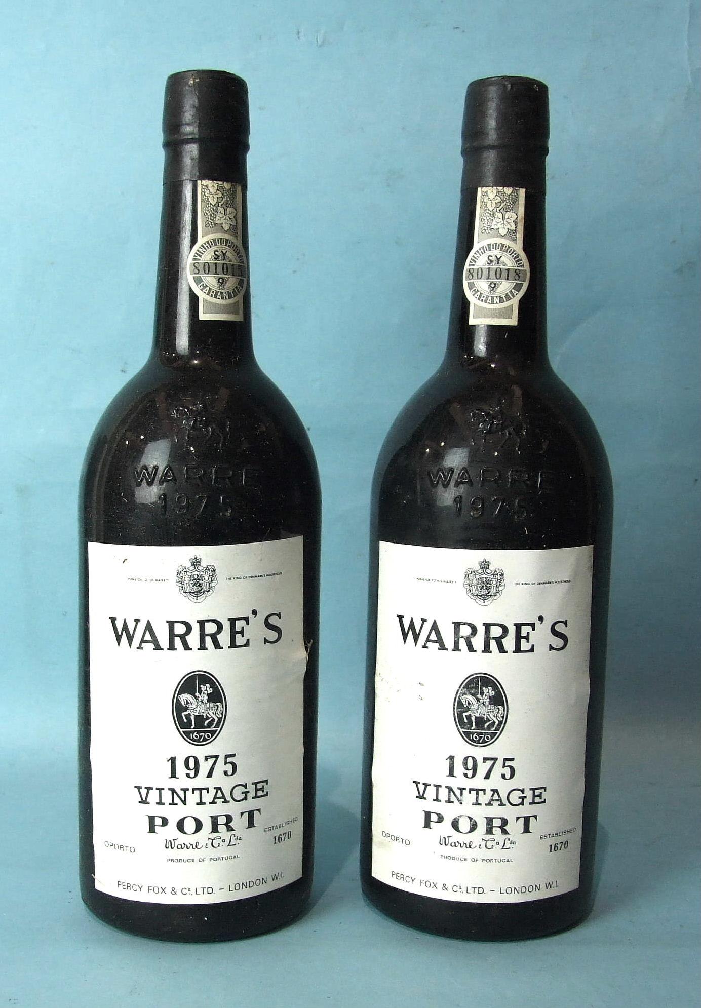 Lot 49 - Warres 1975 Vintage Port, two bottles.