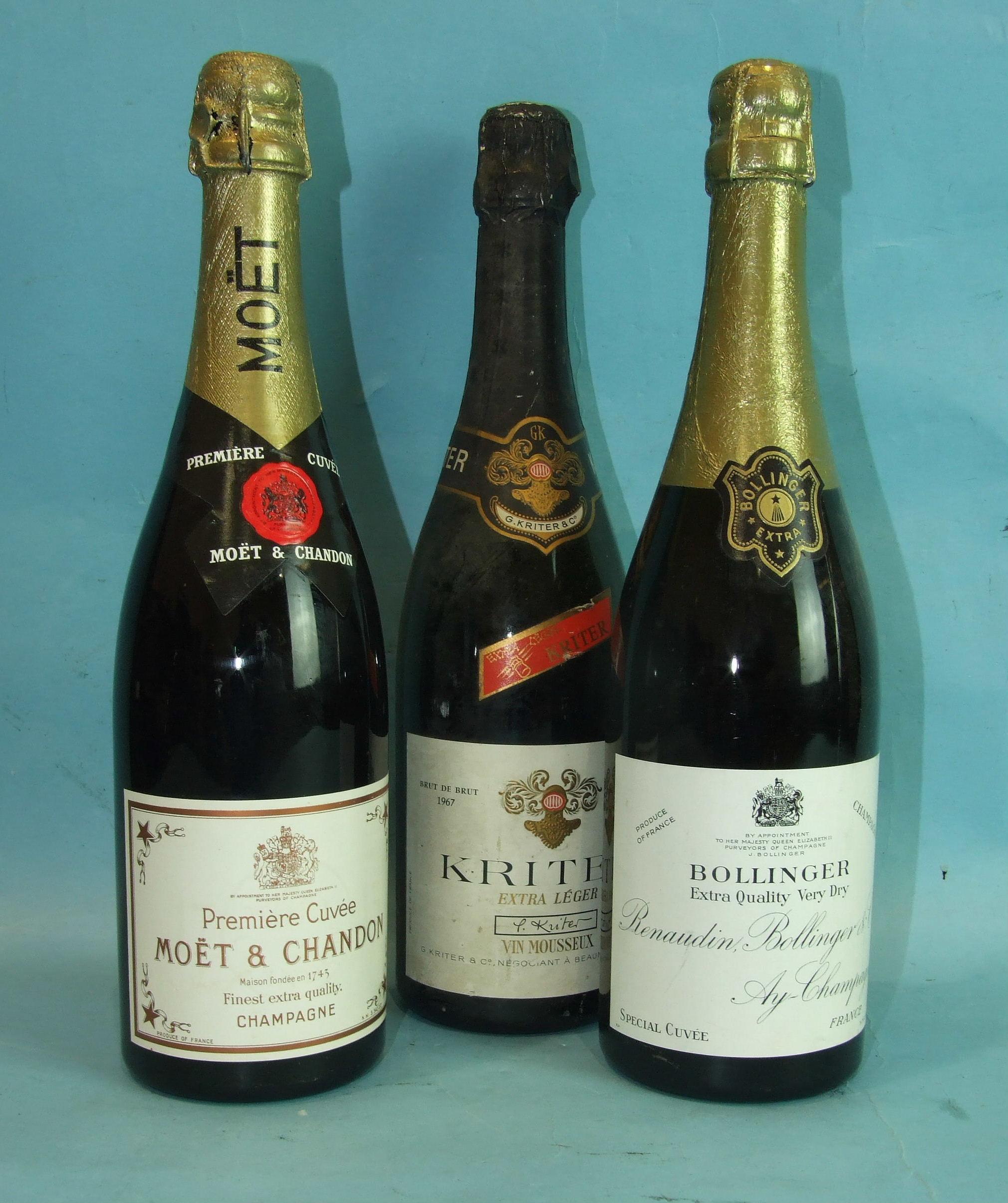 Lot 4 - Bollinger Extra Quality Very Dry Special Cuvée Champagne, one bottle, Moët et Chandon Premiere Cuvée