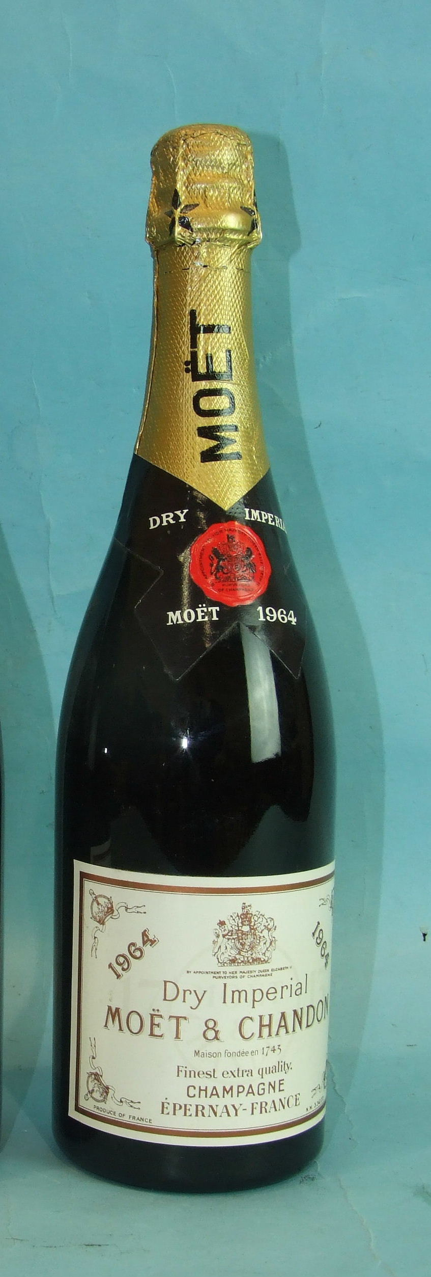 Lot 3 - Moët et Chandon Dry Imperial 1964 vintage Champagne, one bottle.