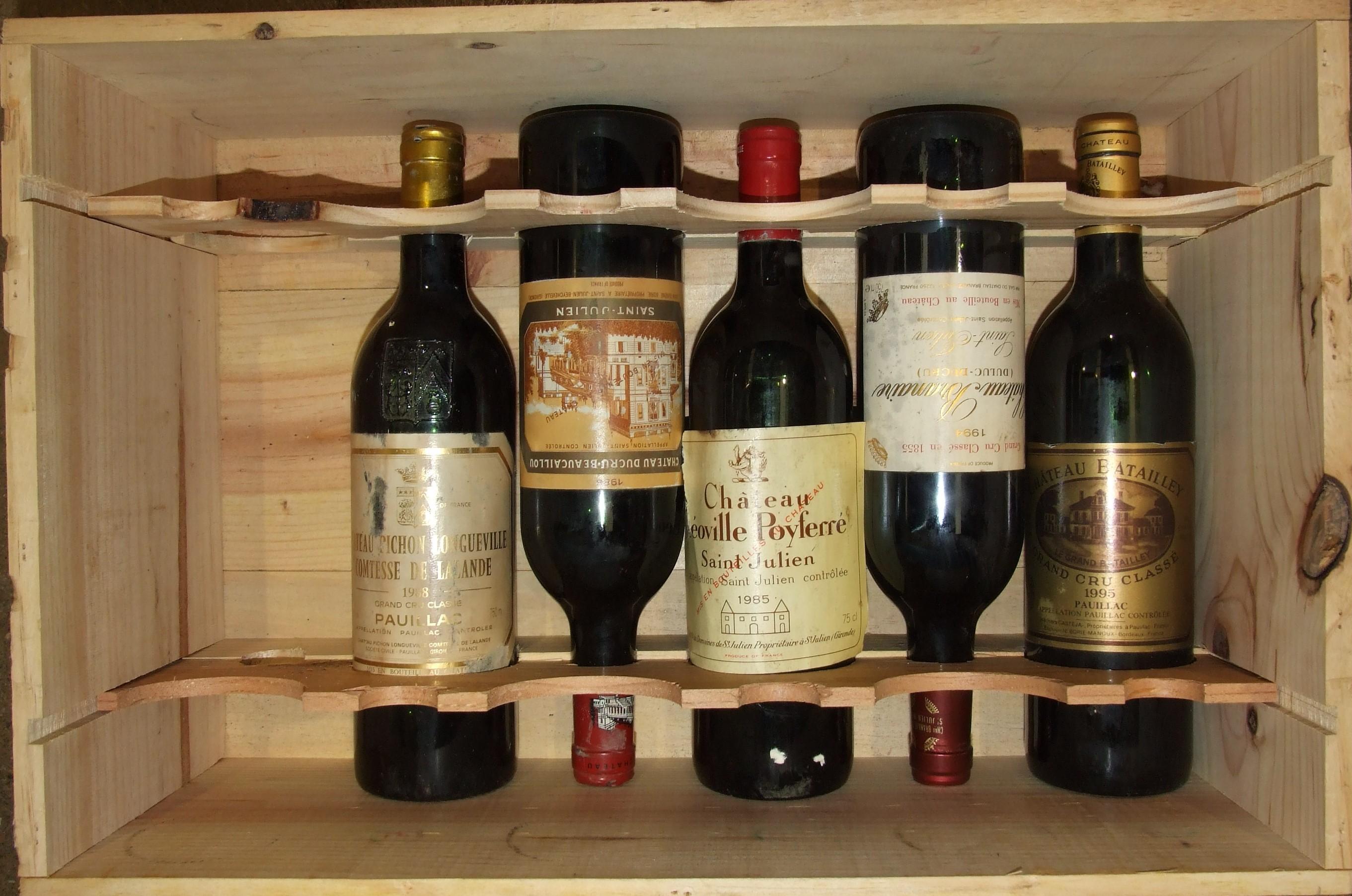 Lot 19 - Chateau Batailley 1995, one bottle, Chateau Branaire Ducru 1994, one bottle, Chateau Pichon