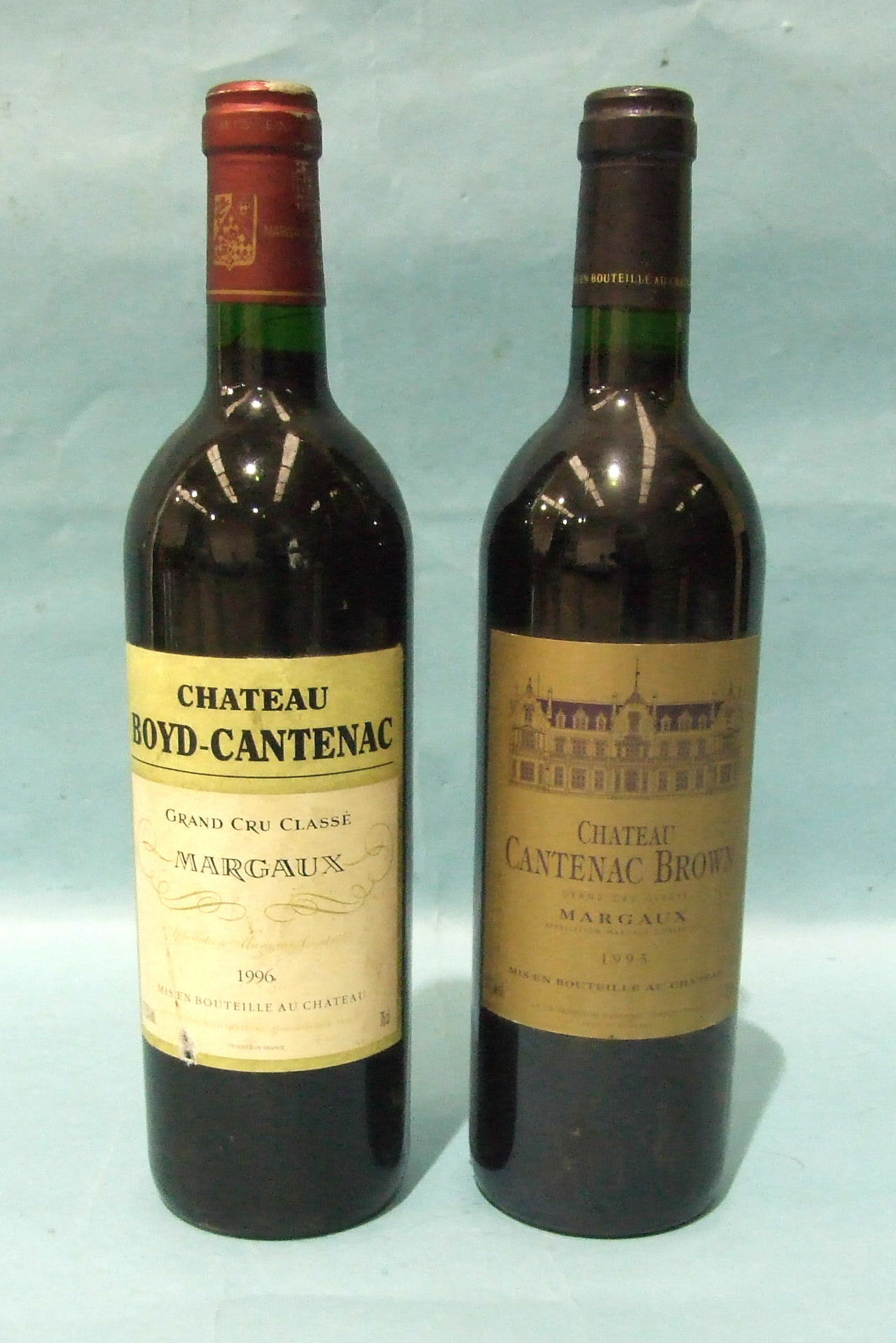 Lot 21 - Chateau Cantenac Brown 1995, one bottle and Chateau Boyd-Cantenac 1996, one bottle, (2).