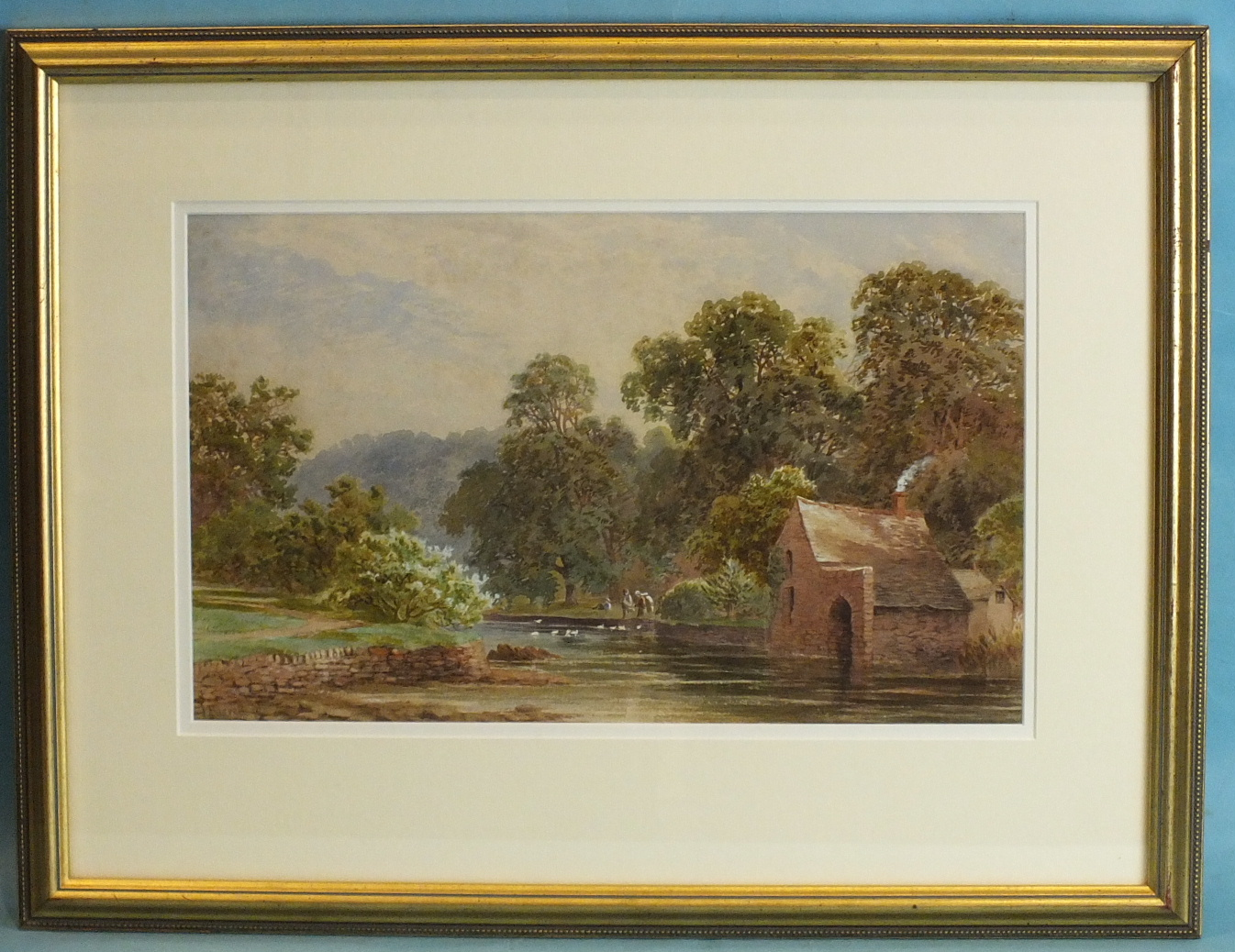 Lot 87 - J Barrett THE BOATHOUSE, RADFORD WOODS, PLYMSTOCK Watercolour, signed and dated '80, 24.5 x 39.