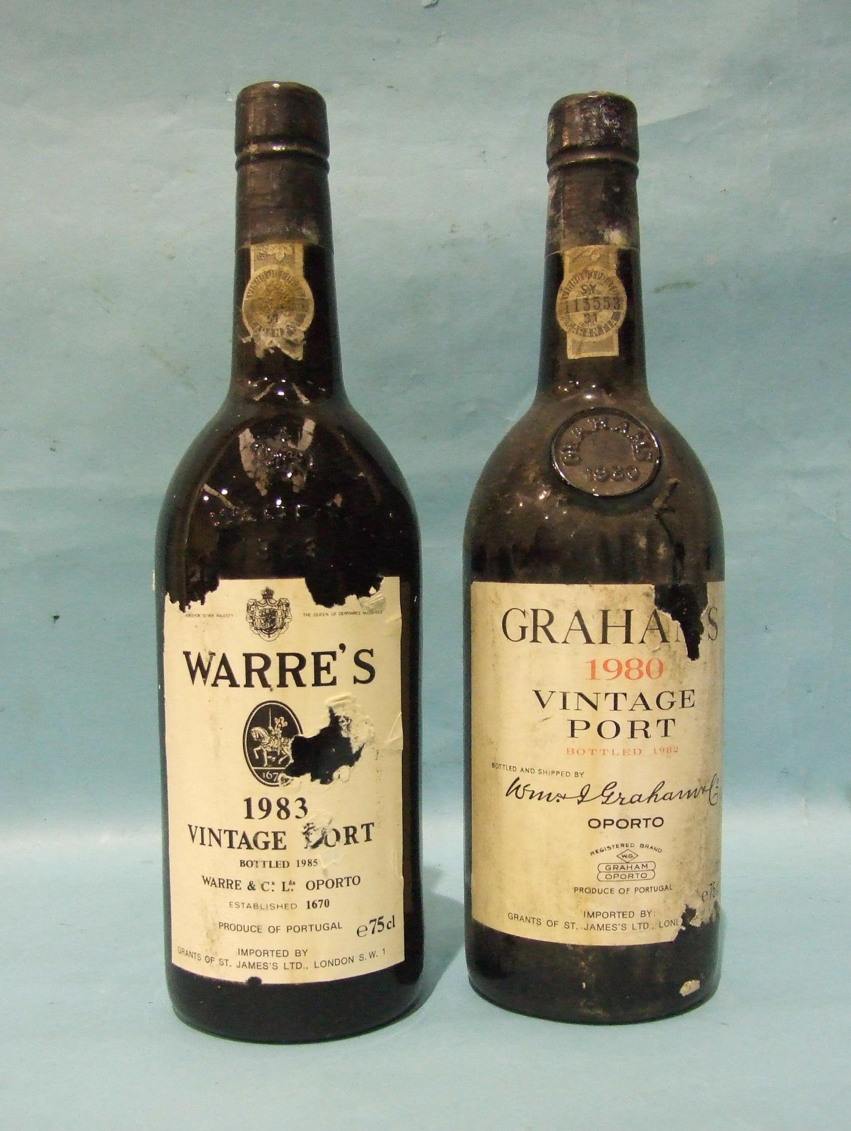 Lot 48 - Grahams 1980 Port, one bottle and Warres 1983 Port, one bottle, (2).