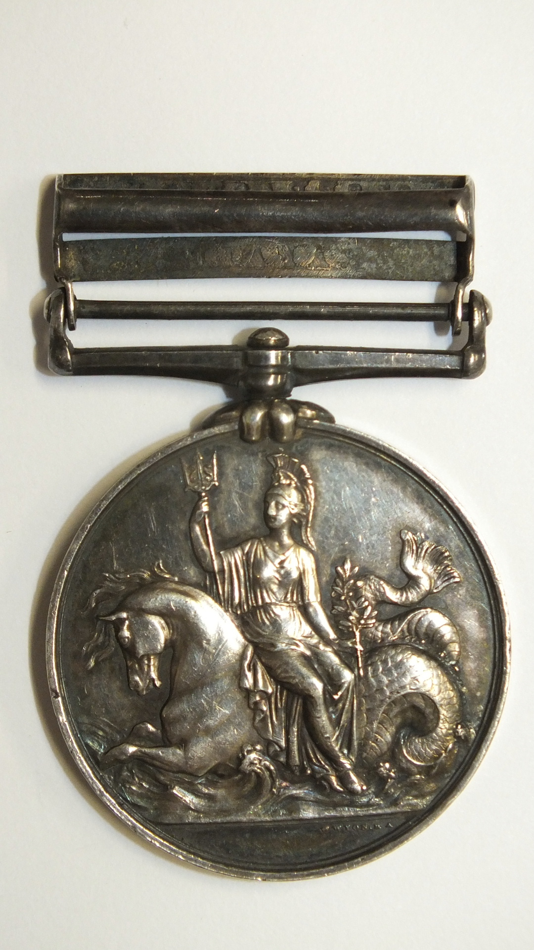 Lot 245 - A Naval General Service Medal 1793-1840 with two clasps, Trafalgar and St Sebastian, awarded to