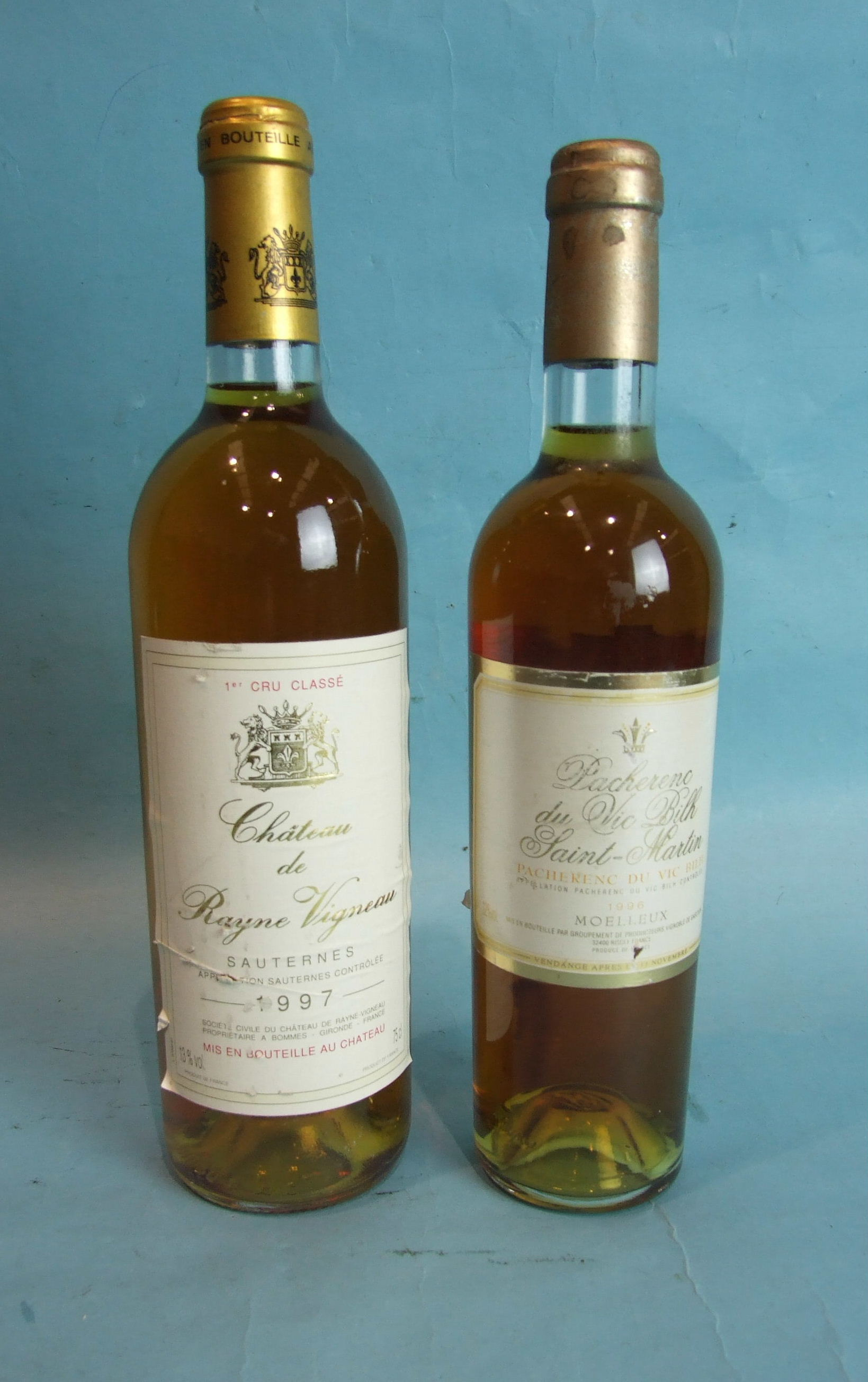 Lot 40 - Chateau de Rayne Vigneau Sauternes 1er Cru Classé 1997, one bottle and another dessert wine,