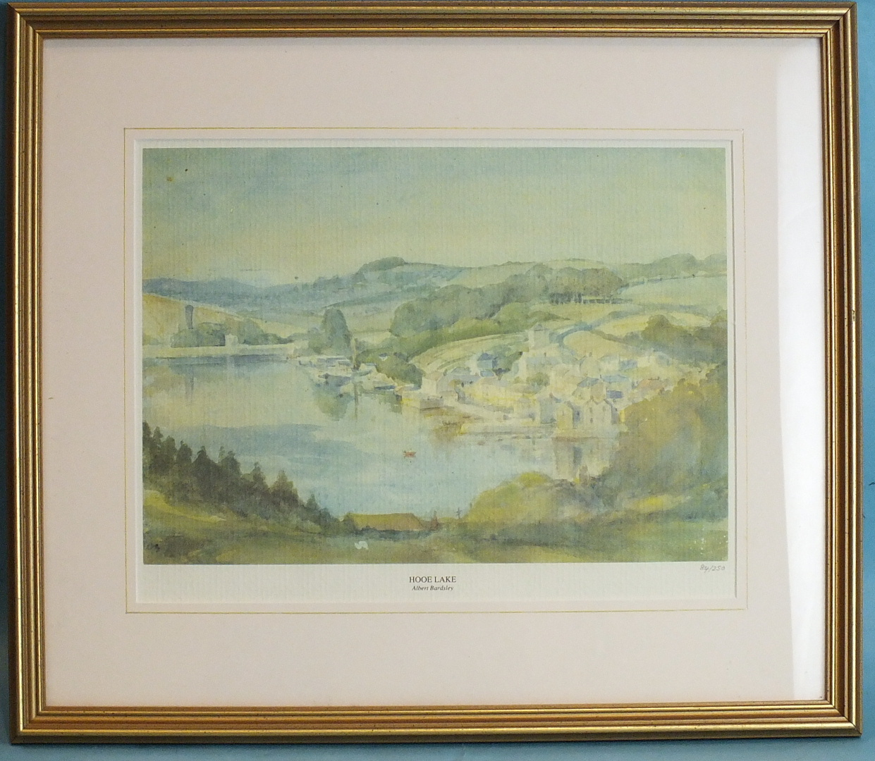 Lot 88 - Albert Bardsley (Attrib.) BUILDINGS BY LAKE Watercolour, unsigned, 25 x 36.5cm, sold together with a
