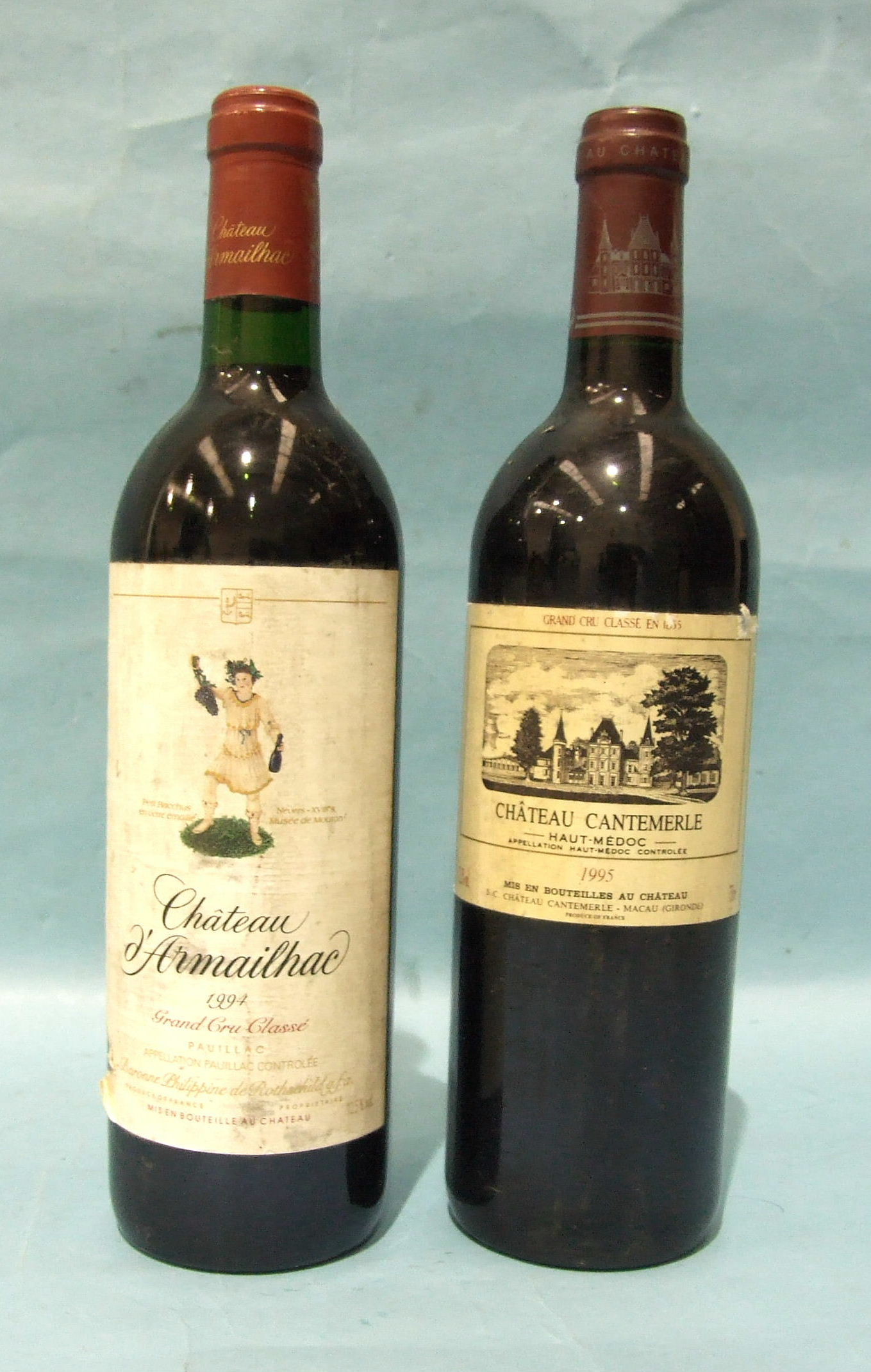 Lot 20 - Chateau Cantemerle 1995, one bottle and Chateau Armaillac 1994, one bottle, (2).