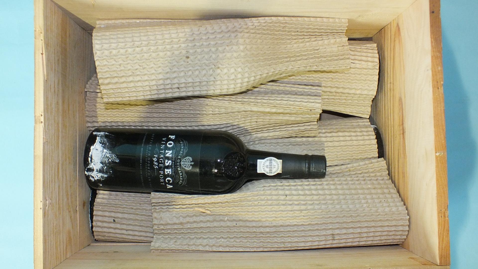 Lot 54 - Fonseca 1985 Vintage Port, six bottles, in wood case, (6).