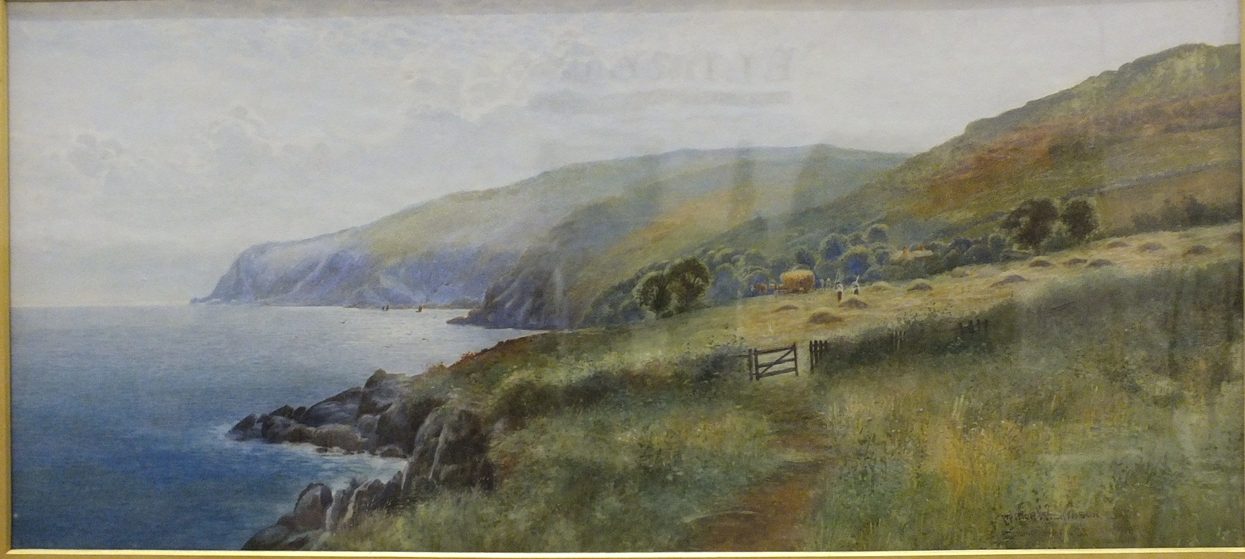 Lot 94 - Arthur Wilkinson (1860-1930) AT COOMBE MARTIN, DEVONSHIRE Signed watercolour, dated 1895, 29 x