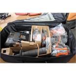 SCREW GUN, RIDGID, (2) batteries & charger, in bag (new)