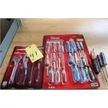 LOT CONSISTING OF: pliers (new), screwdrivers (new & used)