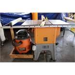 "LOT CONSISTING OF: Ridgid 10"" Mdl. R4512 table saw, Ridgid blower vacuum"